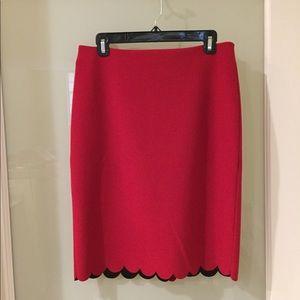 6 Tall Banana Republic Red Skirt